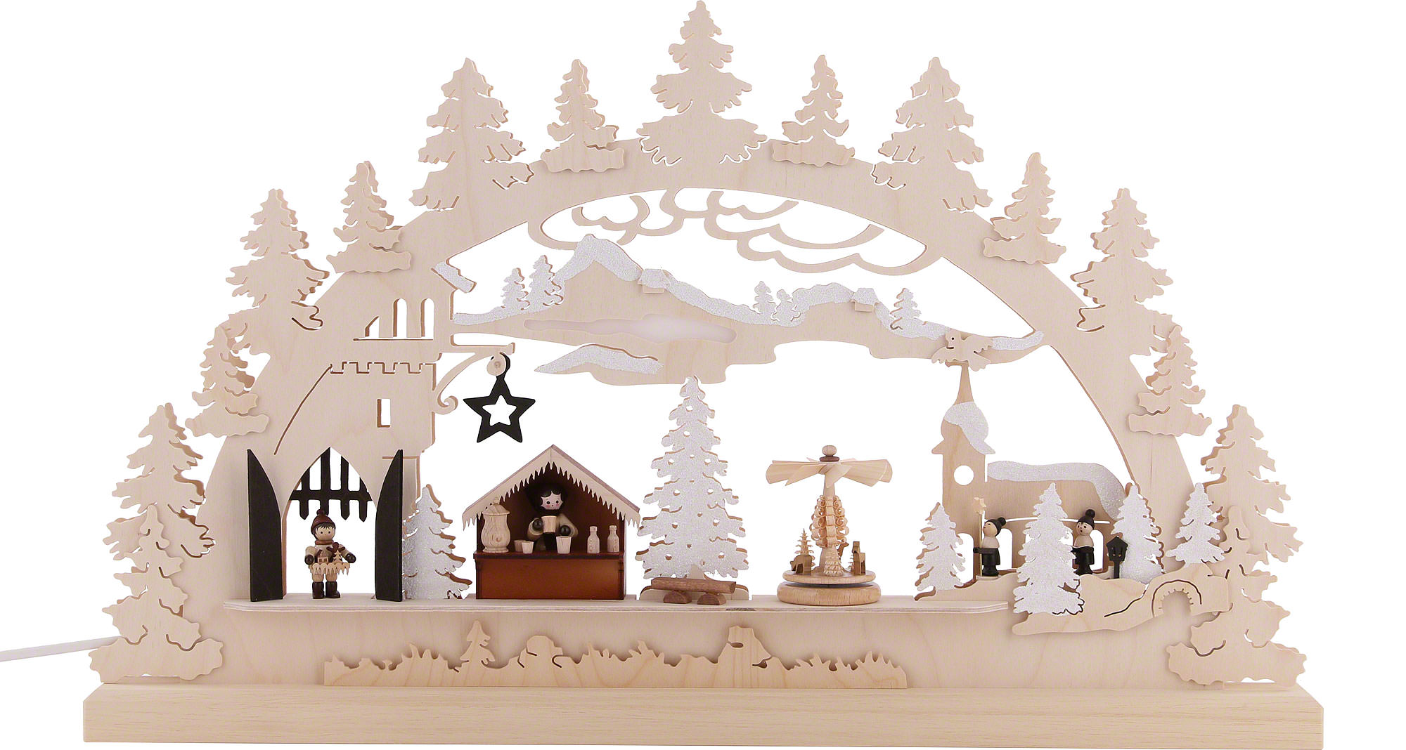 Candle arch village christmas 62 37 5 5 cm 24 14 2in for Arch candle christmas decoration