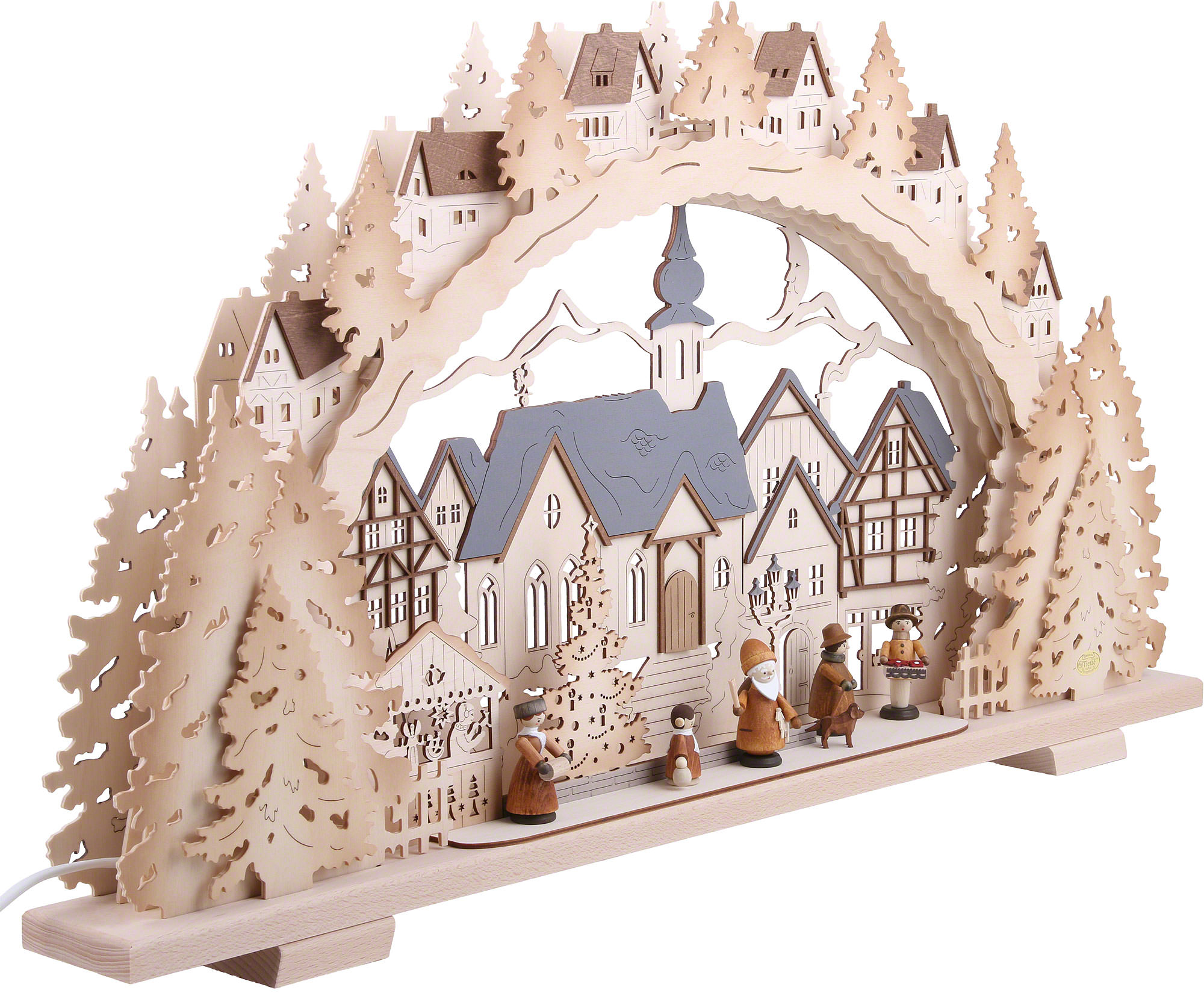 Candle arch christmas time natural wood exclusive 72 41 for Arch candle christmas decoration