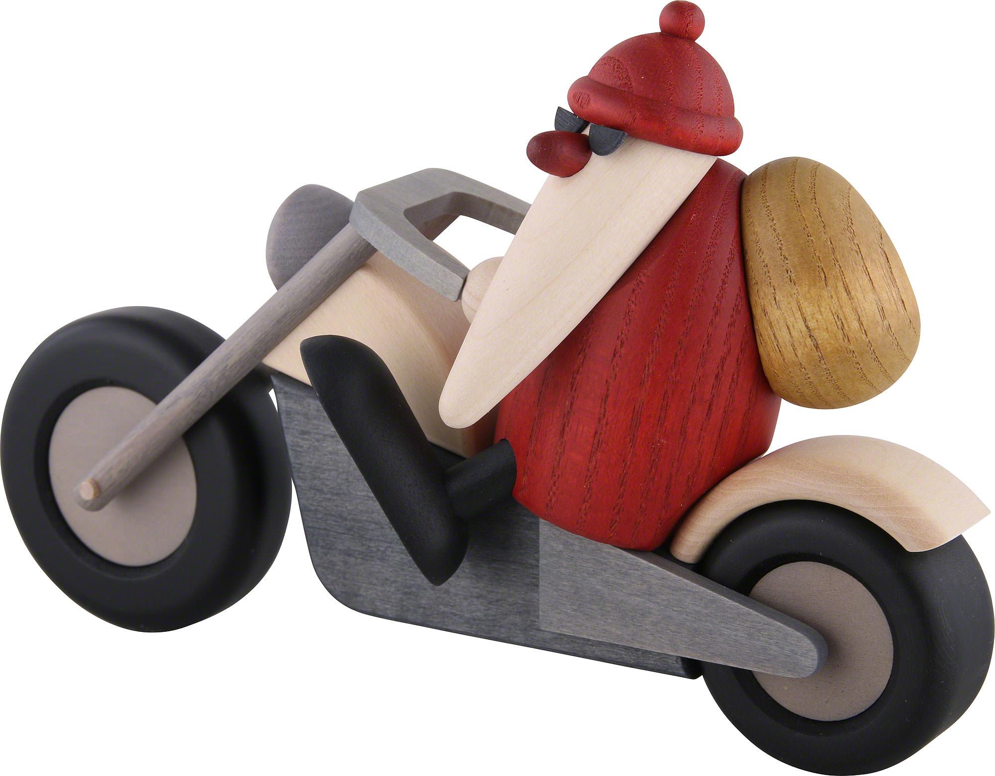 santa claus on motorcycle 11 cm by bj rn k hler. Black Bedroom Furniture Sets. Home Design Ideas