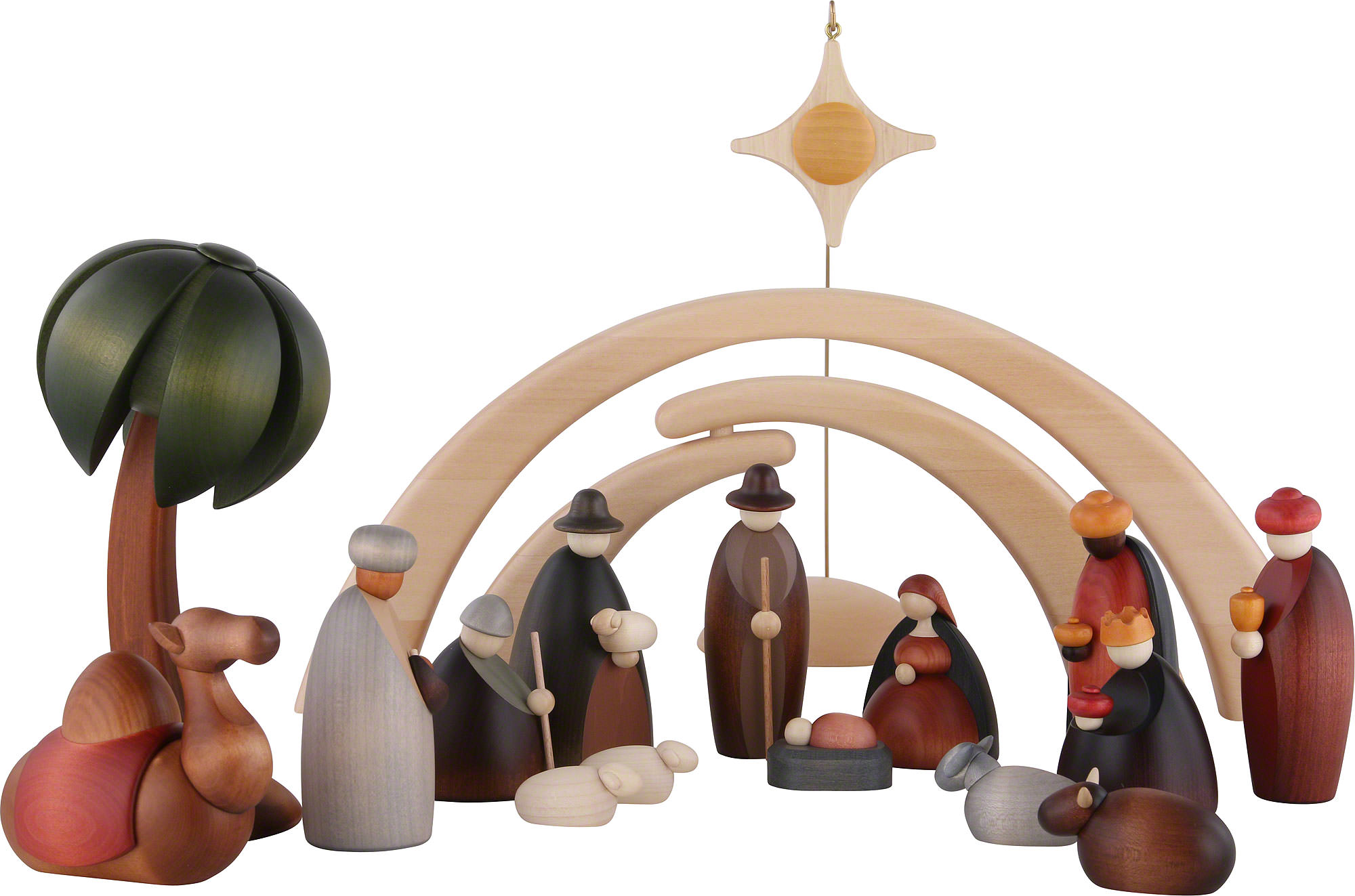 nativity set of 17 pieces including stable and star by bj rn k hler kunsthandwerk. Black Bedroom Furniture Sets. Home Design Ideas