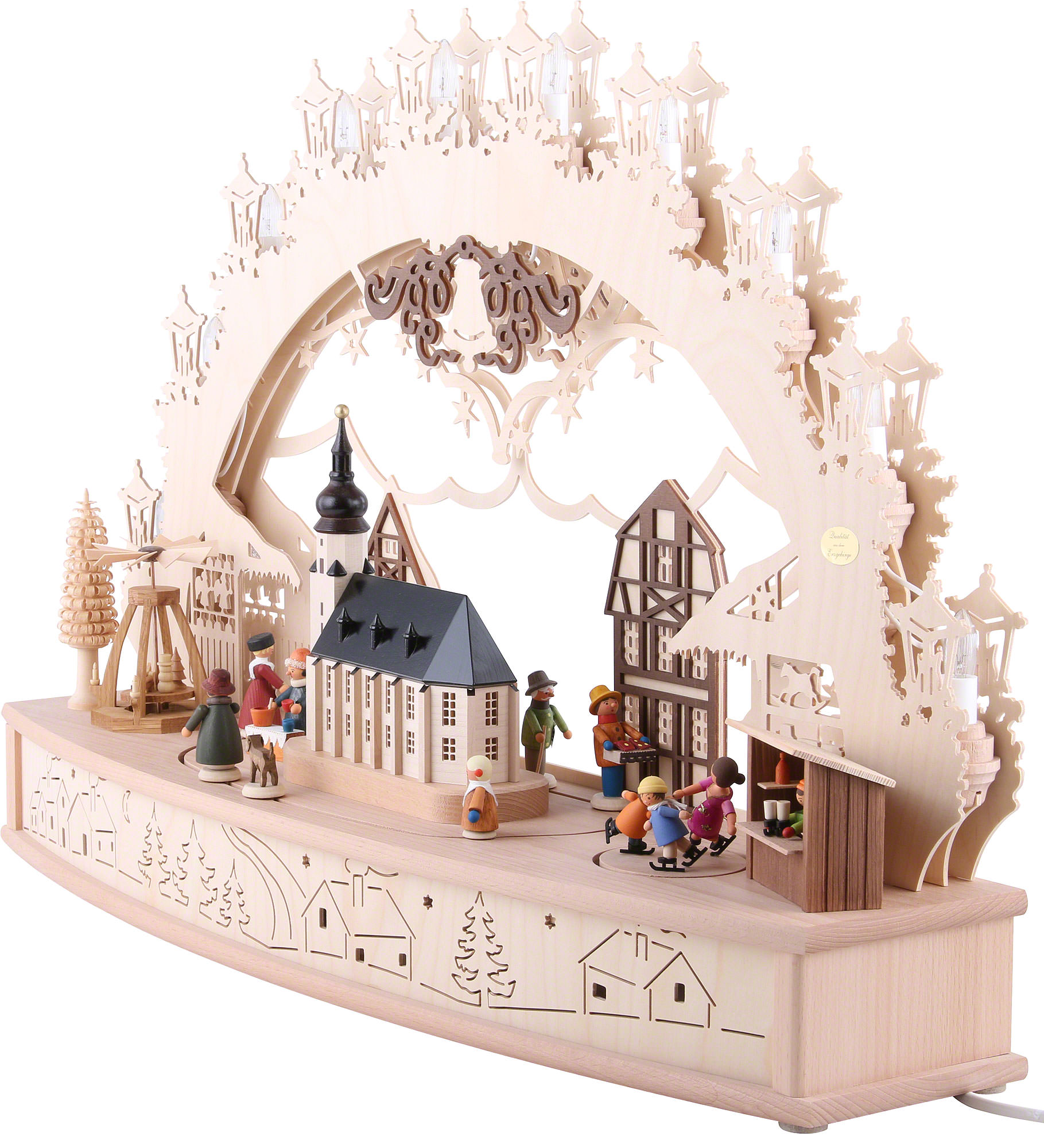 3d candle arch 39 christmas fair 39 68x46x17cm 27x18x7in ch for Arch candle christmas decoration