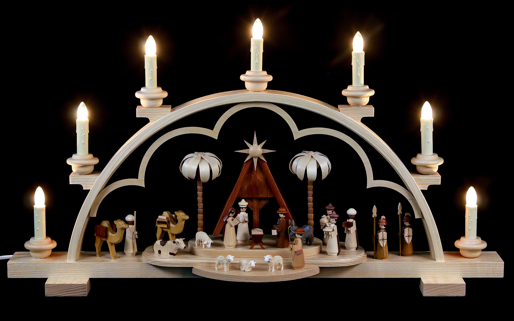 Candle arch christmas story 64 cm 56in 120v electr for Arch candle christmas decoration