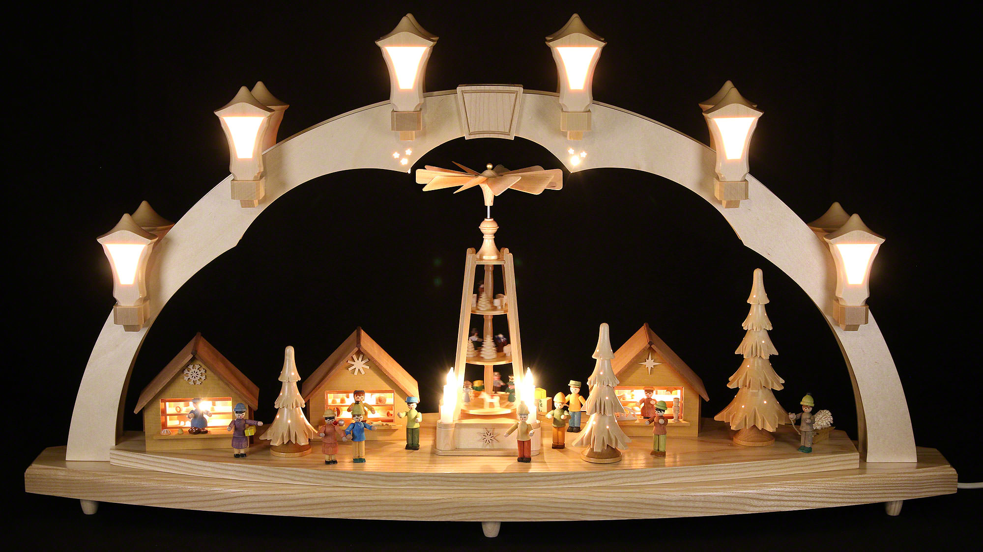 candle arch christmas fair 41x17in 80x43cm by richard. Black Bedroom Furniture Sets. Home Design Ideas