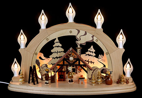 Candle arch christmas parlor 57 38 15 cm 22 15 6in by for Arch candle christmas decoration