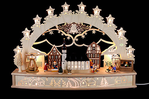 Image For 3D-Candle arch 'Christmas fair' (68x46x17cm/27x18x7inch) by Saico