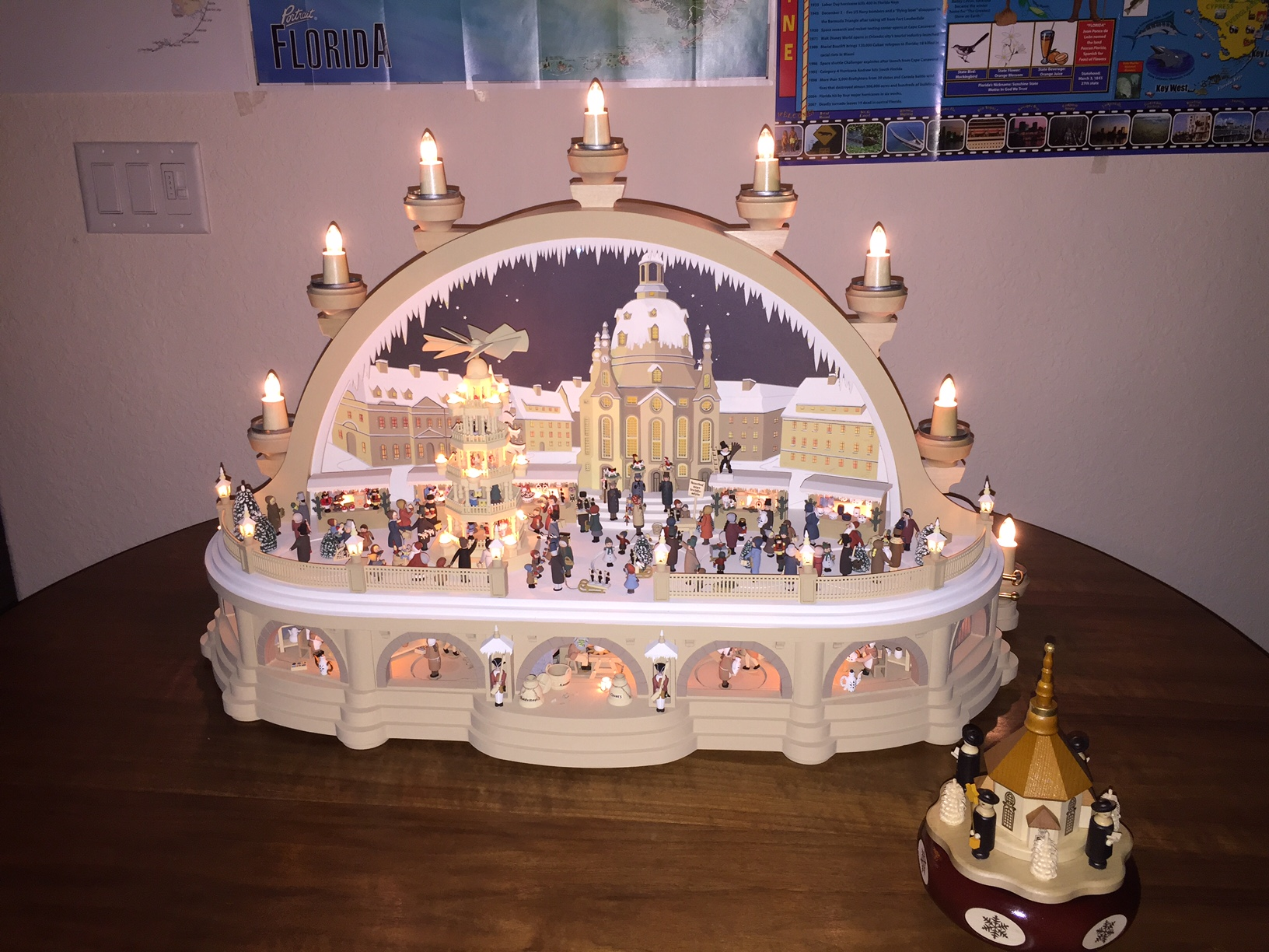 A long journey first large kolbe candle arch in the for Arch candle christmas decoration