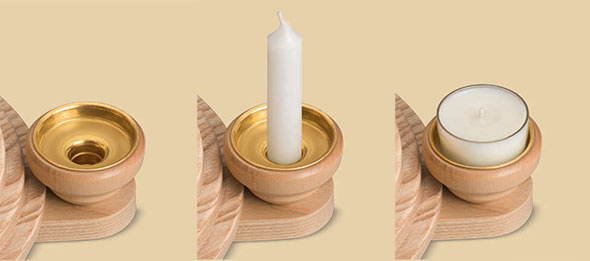 Universal cup for candles and tealights