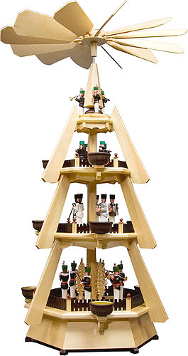 Image For 4-Tier Pyramid - Miners (74cm/29 inch) by Dregeno Seiffen