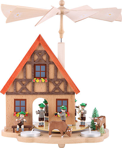 Image For Tea Candle Pyramid Bavaria (29cm/11.4 inch) by Richard Glässer