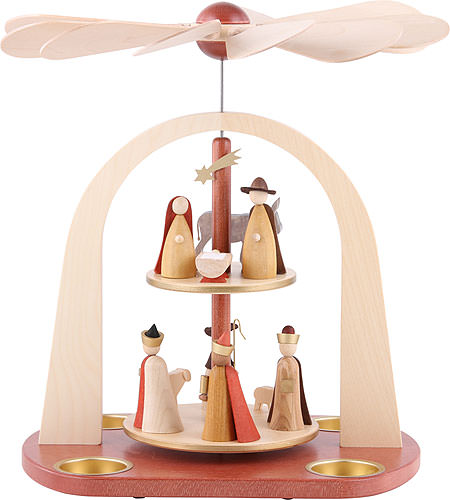 Image For 2-Tier Pyramid - Nativity Scene (29cm/11.4 inch) by Richard Glässer