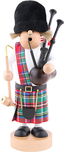 Image For Smoker - Scotsman with Bagpipe (29cm/11.4 inch) by KWO