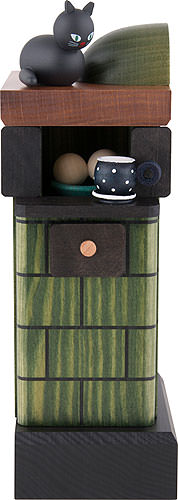 Image For Smoker - Tiled Stove Green (20cm/7.8 inch) by KWO