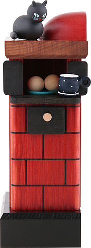 Image For Smoker - Tiled Stove Red (20cm/7.8 inch) by KWO
