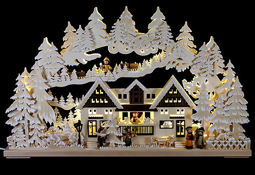 Image For 3D Candle Arch - Christmas at the Gift House (72x43cm/28.3x17 inch) by RATAGS Holzdesign