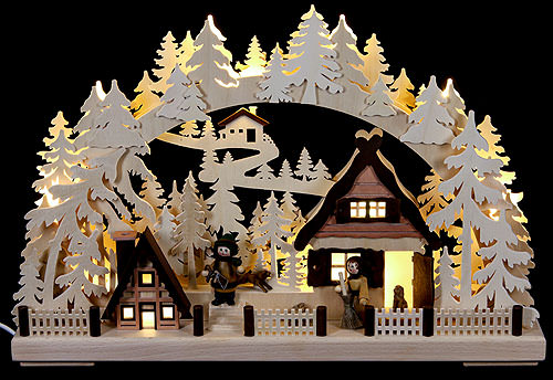 Image For 3D Candle Arch - Christmas Preparations (43x30cm/17x12 inch) by RATAGS Holzdesign