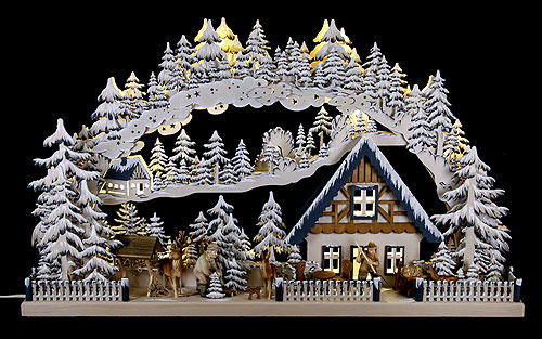 Image For 3D Candle Arch - Onset of Winter (72x43cm/28x17 inch) by RATAGS Holzdesign