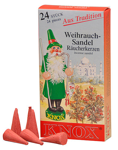 Image For Knox Incense Cones - Sandel by Knox Räucherkerzen