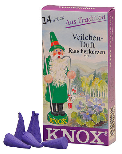 Image For Knox Incense Cones - Violet by Knox Räucherkerzen