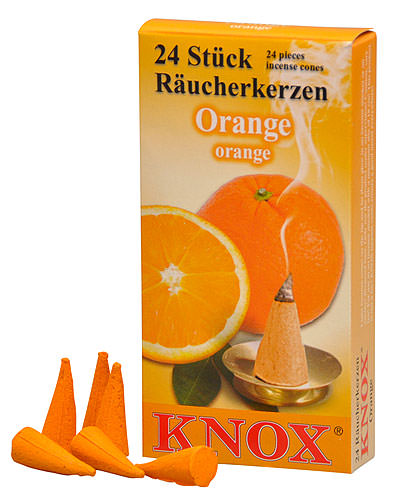 Image For Knox Incense Cones - Orange by Knox Räucherkerzen