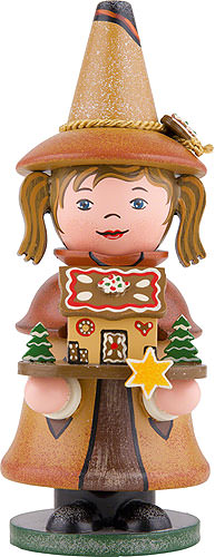 Image For Smoker - Gnome Gingerbread House (14cm/5.5 inch) by Hubrig Volkskunst