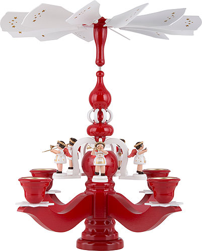 Image For Pyramid Candle Holder - Angels (46cm/18 inch) by Dregeno Seiffen