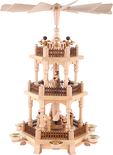 3 Tier Pyramid Christmas Time 45 Cm 18in By Theo