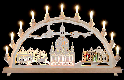 Image For 3D Double Arch - Dresden's Church of Our Lady with Carriage and Figures (68x35cm/27x14 inch) by Schlick & Türk