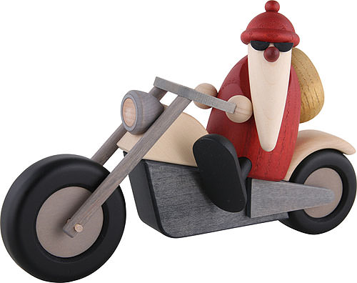 santa claus on motorcycle 11 cm by bj rn k hler kunsthandwerk. Black Bedroom Furniture Sets. Home Design Ideas