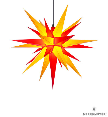 herrnhuter moravian star a7 yellow red plastic 68cm 27in by herrnhuter sterne. Black Bedroom Furniture Sets. Home Design Ideas