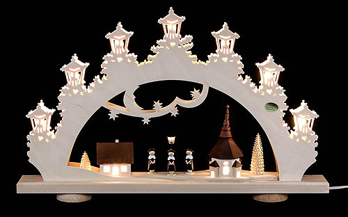 Image For 3D Candle Arch - 'Carolers' (52x32x6cm/20x13x2.3 inch) by Saico Seiffen