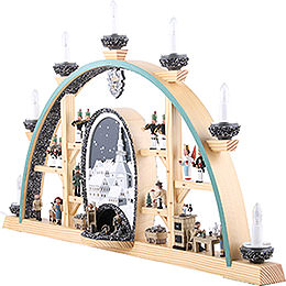 Candle Arch - Scenes From the German Erzgebirge - 72x41 cm / 28x16 inch