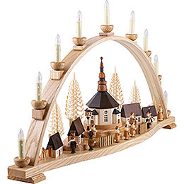 Candle Arch - Seiffen Villlage - 78x42 cm / 31x17 inch