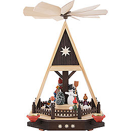 1-Tier Pyramid - Santa with Children - 33 cm / 13 inch
