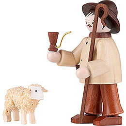 Thiel Figurine - Shepherd with Sheep - natural - 6 cm / 2.4 inch
