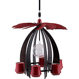 1-Tier Hanging Pyramid NOVA - Anthracite/Rubyred - 33 cm / 13 inch