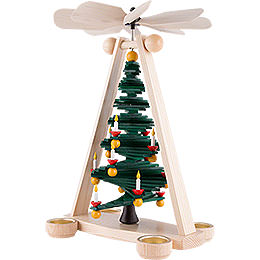 1-Tier Pyramid with Level Christmas Tree - 40 cm / 15.7 inch