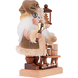 Smoker - Gnome Santa on a Bench - 28,5 cm / 11 inch