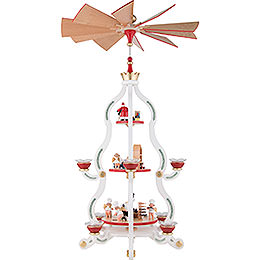 3-Tier Pyramid - White Tradition - 85,5 cm / 34 inch