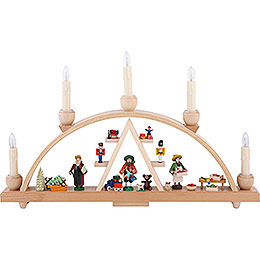 Candle Arch - Christmas at Seiffen - 19x11 inch - 48x28 cm / 11 inch