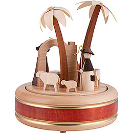 Music Box - Nativity - Natural Wood Design - 18 cm / 7.1 inch