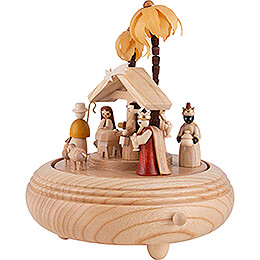Music Box - Nativity - Natural - 20 cm / 7.9 inch