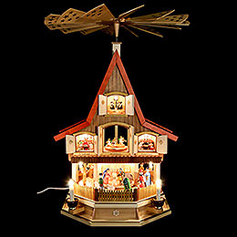 3-Tier Adventhouse - Nativity Scene - 77 cm / 30 inch