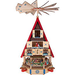4-Tier Adventhouse - The Arrival - 78 cm / 31 inch