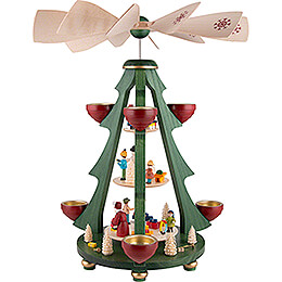 3-Tier Pyramid Tree - Distribution of Presents - 40 cm / 15.7 inch