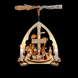 1-Tier Pyramid - Nativity Scene - 40 cm / 16 inch