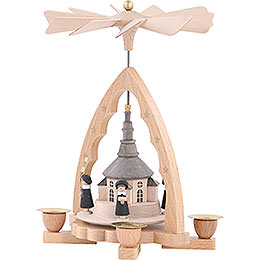 1-Tier Pyramid - Seiffen Church - 19 cm / 7 inch