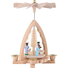 1-Tier Pyramid - Nativity Scene - 19 cm / 7 inch