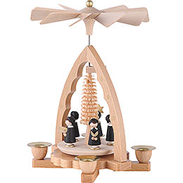 1-Tier Pyramid - Carolers - 19 cm / 7 inch
