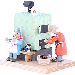 Smoker - Smoking Oven Grandmother and Grandfather - 10 cm / 4 inch