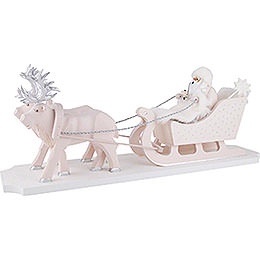 Smoker - Father Frost with Reindeer Sleigh - 26 cm / 10.2 inch